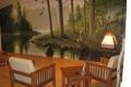 River Mural Sitting Area