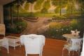 Garden Mural Sitting Area
